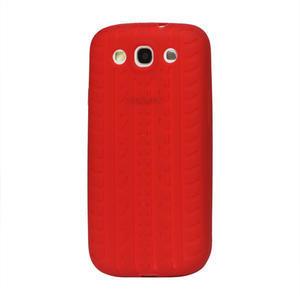 Silikonové PNEU pozdro pro Samsung Galaxy S3 i9300 - červené - 1
