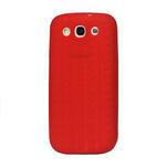 Silikonové PNEU pozdro pro Samsung Galaxy S3 i9300 - červené - 1/2