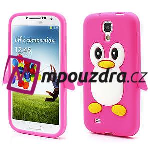 Silikonový Tučňák pouzdro pro Samsung Galaxy S4 i9500- růžový - 1