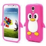 Silikonový Tučňák pouzdro pro Samsung Galaxy S4 i9500- růžový - 1/5