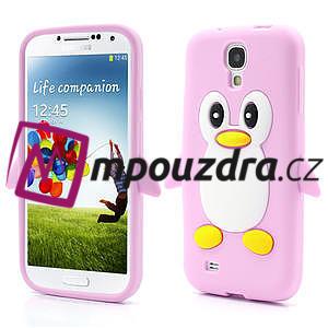 Silikonový Tučňák pouzdro pro Samsung Galaxy S4 i9500- světle-růžový - 1