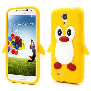 Silikonový Tučňák pouzdro pro Samsung Galaxy S4 i9500- žlutý - 1