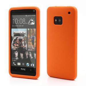 Silikonové pouzdro pro HTC one M7- oranžové - 1