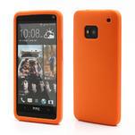 Silikonové pouzdro pro HTC one M7- oranžové - 1/6