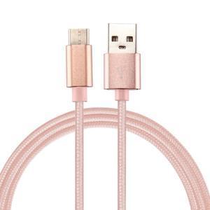 Texture tkaný micro USB Typ-C kabel na nabíjení a synchronizaci / 0.5m - růžovozlatý - 1