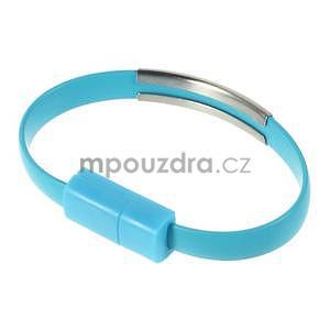 Multifunkční náramek micro USB, modrý - 1