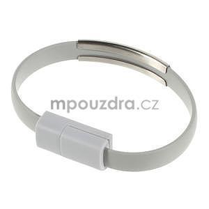Multifunkční náramek micro USB, šedý - 1