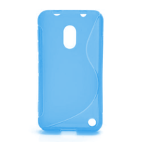 Gelové S-line pouzdro na Nokia Lumia 620- modré - 1/5