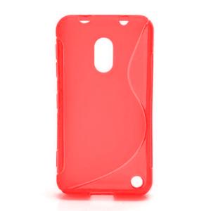 Gelové S-line pouzdro na Nokia Lumia 620- červené - 1