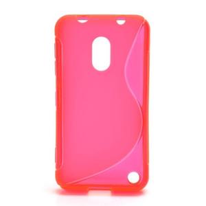 Gelové S-line pouzdro na Nokia Lumia 620- růžové - 1