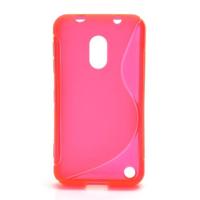 Gelové S-line pouzdro na Nokia Lumia 620- růžové - 1/5