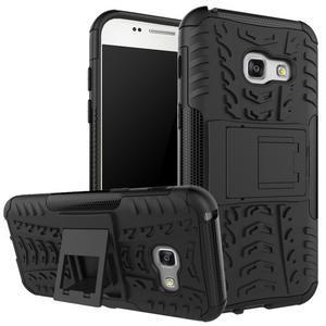 Outdoor odolný obal na mobil Samsung Galaxy A3 (2017) SM-A320 - černý 3f452c996ad
