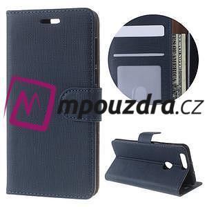 Clothy peněženkové pouzdro na mobil Honor 8 - tmavěmodré - 1
