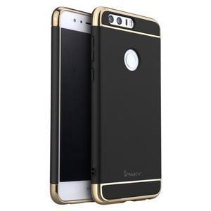 Luxusní odolný obal 3v1 na mobil Honor 8 - černý - 1