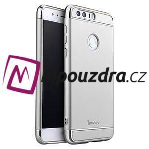 Luxusní odolný obal 3v1 na mobil Honor 8 - stříbrný - 1