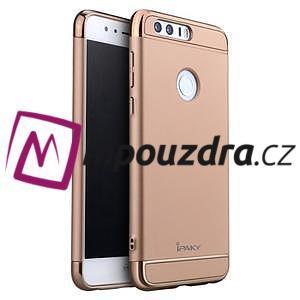 Luxusní odolný obal 3v1 na mobil Honor 8 - zlatorůžový - 1