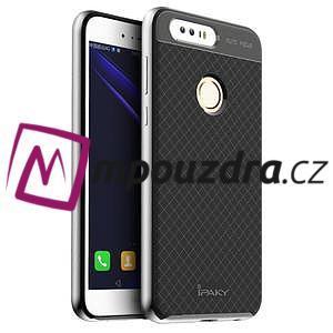 Odolný obal 2v1 na mobil Honor 8 - stříbrný - 1