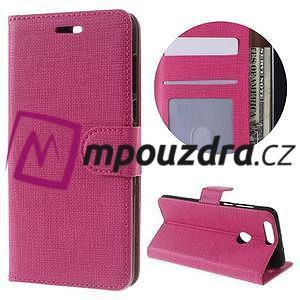 Clothy peněženkové pouzdro na mobil Honor 8 - rose - 1