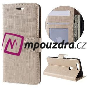 Clothy peněženkové pouzdro na mobil Honor 8 - zlaté - 1