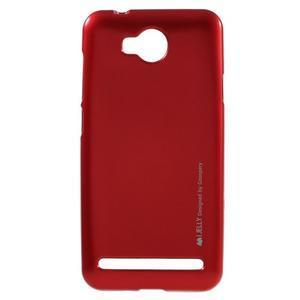 Luxusní gelový obal na mobil Huawei Y3 II - červený - 1