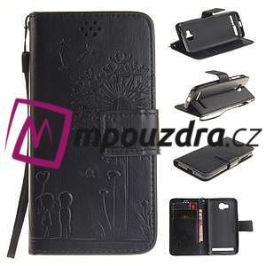 Dandelion PU kožené pouzdro na mobil Huawei Y3 II - černé - 1