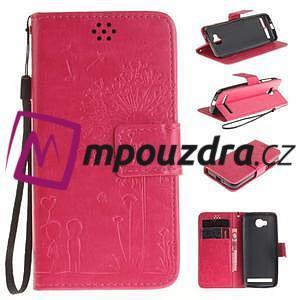 Dandelion PU kožené pouzdro na mobil Huawei Y3 II - rose - 1