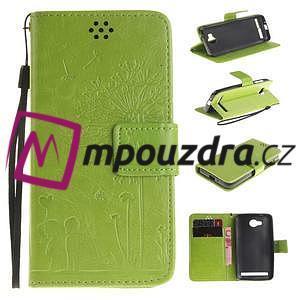 Dandelion PU kožené pouzdro na mobil Huawei Y3 II - zelené - 1