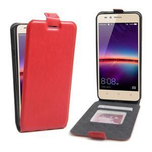 Flipové PU kožené pouzdro na Huawei Y3 II - červené - 1