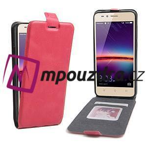 Flipové PU kožené pouzdro na Huawei Y3 II - rose - 1