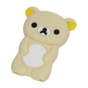 Bear silikonový obal na iPod Nano 7 - béžový - 1