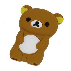 Bear silikonový obal na iPod Nano 7 - hnědý - 1