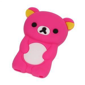 Bear silikonový obal na iPod Nano 7 - rose - 1