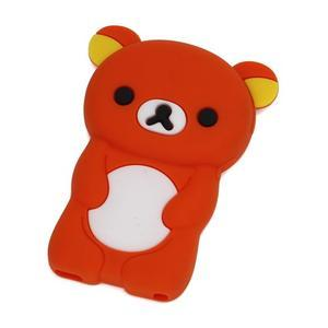 Bear silikonový obal na iPod Nano 7 - oranžový - 1