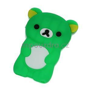 Bear silikonový obal na iPod Nano 7 - zelený - 1