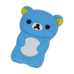 Bear silikonový obal na iPod Nano 7 - světlemodrý - 1