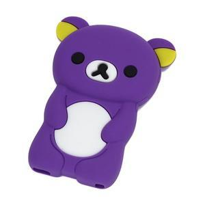 Bear silikonový obal na iPod Nano 7 - fialový - 1