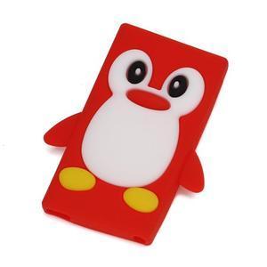 Penguin silikonový obal pro iPod Nano 7 - červený - 1