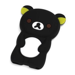 Bear silikonový obal na iPod Nano 7 - černý - 1