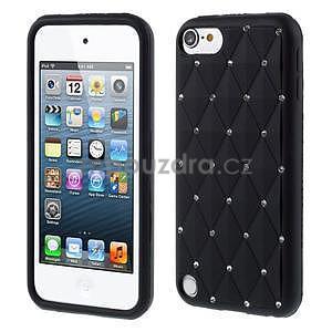 Brite silikonový obal s kamínky iPod Touch 6 / Touch 5 - černý - 1