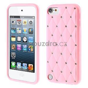 Brite silikonový obal s kamínky iPod Touch 6 / Touch 5 - růžový - 1