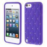 Brite silikonový obal s kamínky iPod Touch 6 / Touch 5 - fialový - 1/5