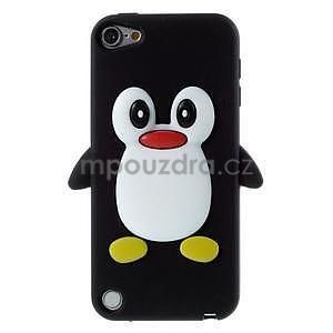 Penguin silikonový obal na iPod Touch 6 / iPod Touch 5 - černý - 1