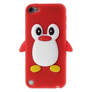 Penguin silikonový obal na iPod Touch 6 / iPod Touch 5 - červený - 1