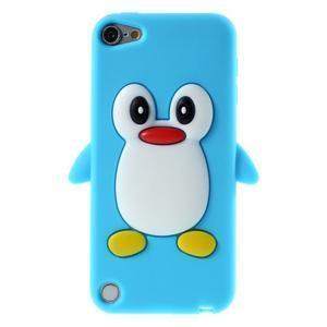 Penguin silikonový obal na iPod Touch 6 / iPod Touch 5 - světle modrý - 1