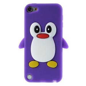 Penguin silikonový obal na iPod Touch 6 / iPod Touch 5 - fialový - 1