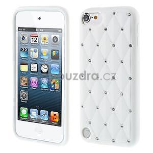 Brite silikonový obal s kamínky iPod Touch 6 / Touch 5 - bílý - 1