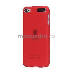 Matte gelový obal na iPod Touch 5 a iPod Touch 6 - červený - 1