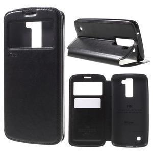 Richi PU kožené pouzdro na mobil LG K8 - černé - 1