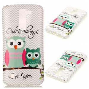 Emotive gelový obal na mobil LG K8 - sovy - 1