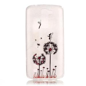 Průhledný gelový obal na telefon LG K8 - pampelišky - 1